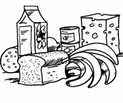 Coloring pages Balanced diet