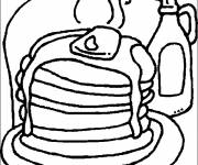 Free coloring and drawings Delicious food Coloring page