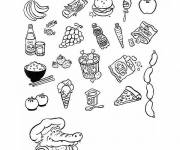 Coloring pages Food and Diet