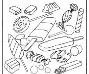 Coloring pages Food Candy