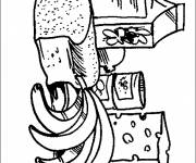 Free coloring and drawings Health food Coloring page