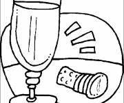 Coloring pages Maternal food