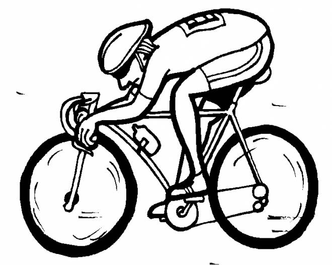 Free coloring and drawings A cyclist in France Coloring page