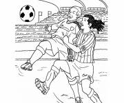 Free coloring and drawings A Football Match to print Coloring page