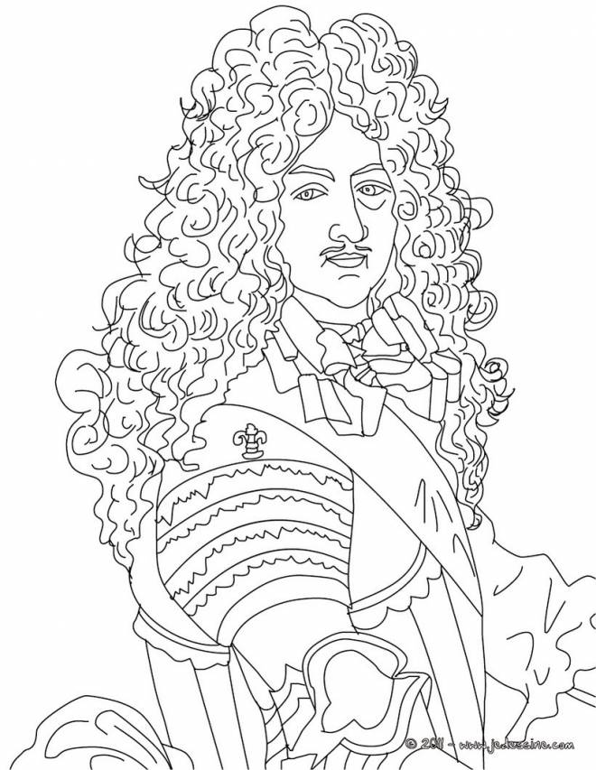Free coloring and drawings A French Thinker Coloring page