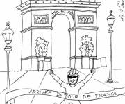 Free coloring and drawings Champs Elysees Coloring page