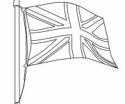Free coloring and drawings Easy England Flag Coloring page