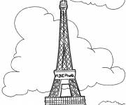Free coloring and drawings Eiffel Tower Coloring page