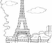 Coloring pages France to color with Paint