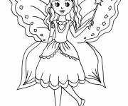 Coloring pages Angel girl to color