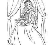 Coloring pages Barbie Princess Girl