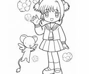 Coloring pages Cartoon girl