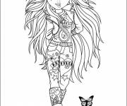 Free coloring and drawings Cartoon teen Coloring page