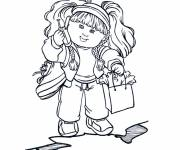 Coloring pages Cute girl