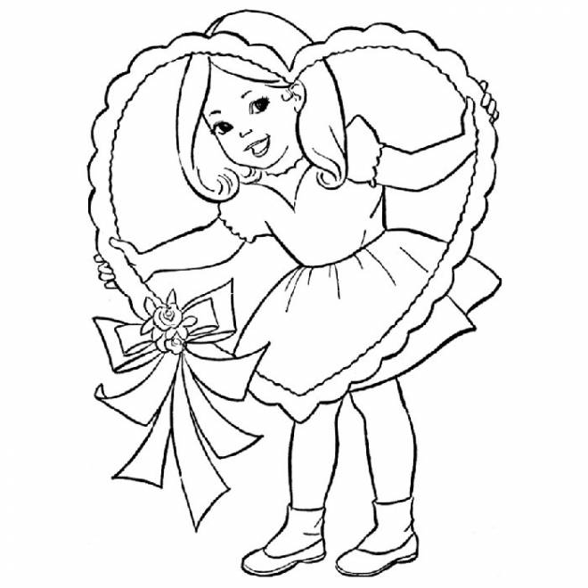 Free coloring and drawings Daughter and Innocence Coloring page