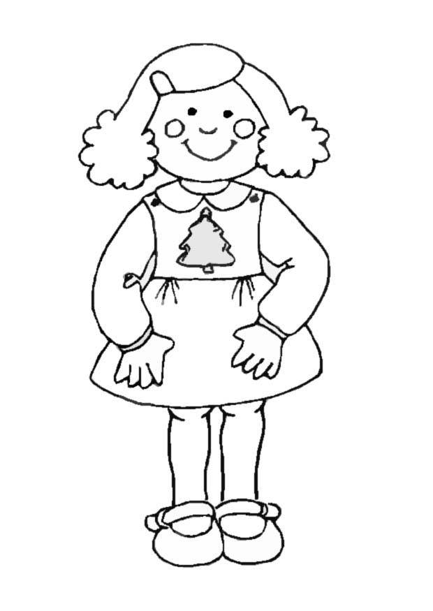 Free coloring and drawings Girl 10 years old Coloring page