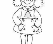 Coloring pages Girl 7 years old