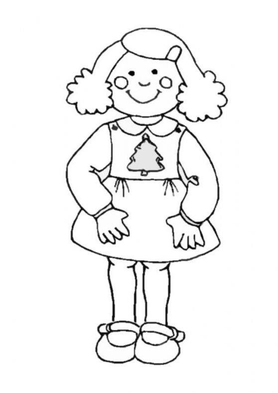 Free coloring and drawings Girl 7 years old Coloring page