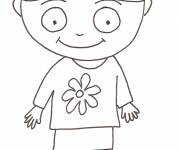 Coloring pages Pencil girl