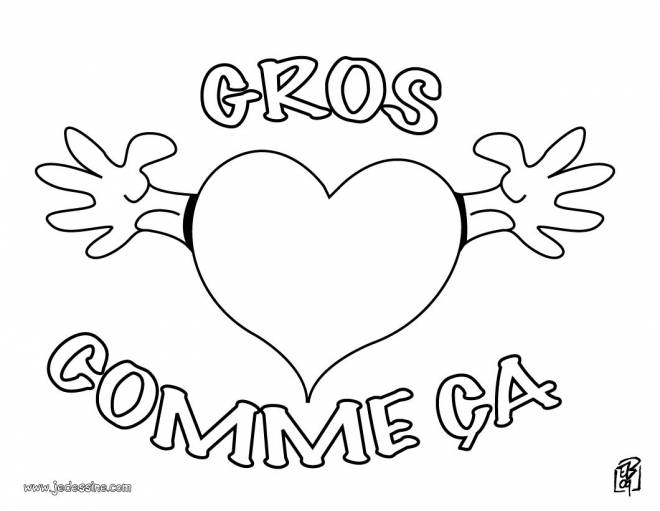 Free coloring and drawings A Big Heart Coloring page