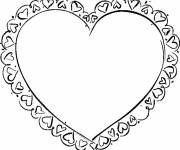 Free coloring and drawings Decorated heart Coloring page