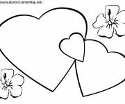 Free coloring and drawings Heart Love Coloring page