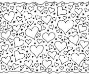 Free coloring and drawings Hearts Everywhere Coloring page