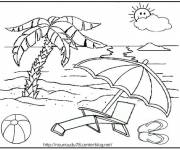 Coloring pages Beach Vacation