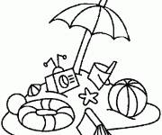 Coloring pages Maternal Beach Ball