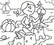 Coloring pages Summer vacation