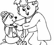 Coloring pages Doctor and bear