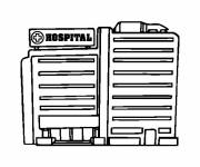 Coloring pages Hospital Building