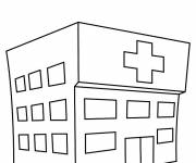 Coloring pages Stylized hospital