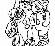 Coloring pages The injured bear