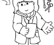 Coloring pages The Little Doctor for children