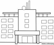 Coloring pages Vector hospital