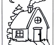 Free coloring and drawings A little house Coloring page