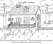 Coloring pages A pretty house