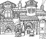Coloring pages An adorable house