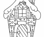 Coloring pages Any Little House covered by the snow