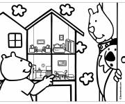 Free coloring and drawings Cartoon House Coloring page