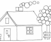 Coloring pages Cottage simple