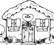 Coloring pages Cottage to download