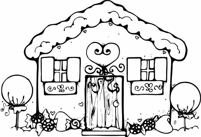 Free coloring and drawings Cottage to download Coloring page