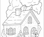 Coloring pages Cutting Cottage