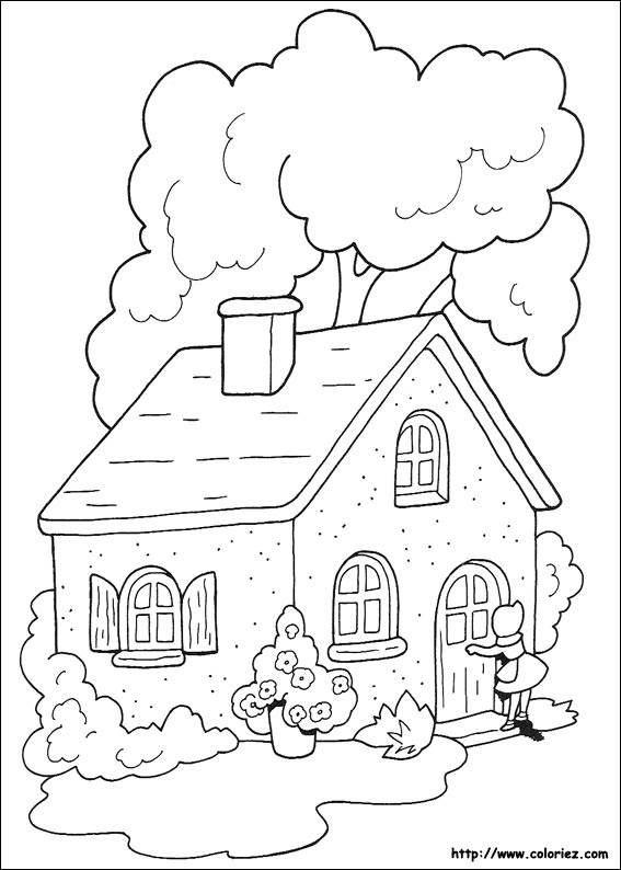 Free coloring and drawings Cutting Cottage Coloring page