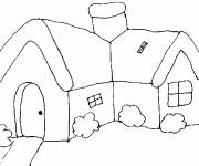 Coloring pages Easy Cottage