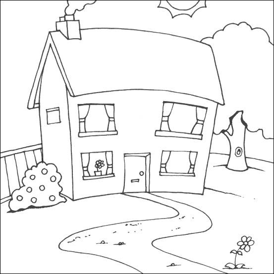 Free coloring and drawings House online Coloring page