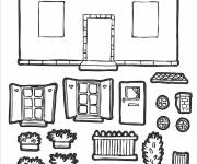 Coloring pages House to assemble