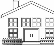 Coloring pages House to decorate